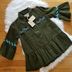 Anthro Beautiful Stories Aztec embroidered jacket